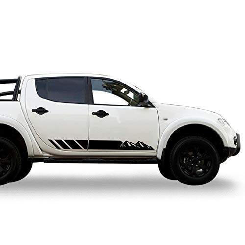 Bubbles Designs 2X Decal Sticker Side Stripes Compatible with Mitsubishi L200 Triton 2005-2017 Warrior Barbarian Titan