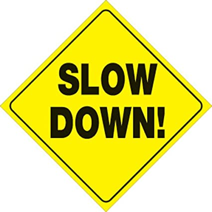 Slow Down Signs >> Voss Signs Yellow Plastic Reflective Sign 12 Slow Down