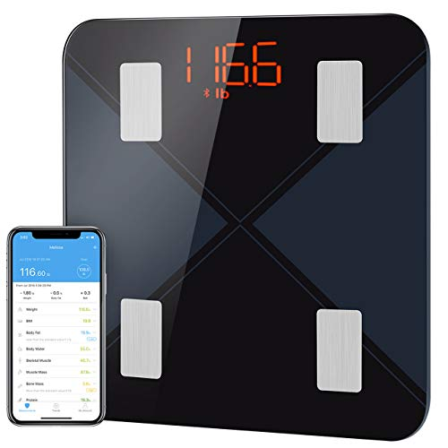 BMI Scale Digital Weight and Body Fat Scale Mpow Bluetooth Bathroom Smart Scale, 13 Physical Body Data Precision Body Composition Analyzer -Weight,BMI,Muscle etc by APP for Fitness Tracking