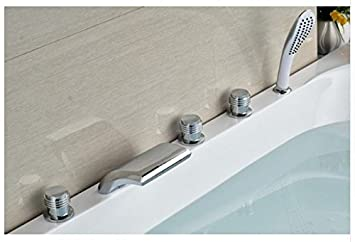 Gowe Modernes Chrom 5 x Badewanne Armatur 3 Griffe Badezimmer ...