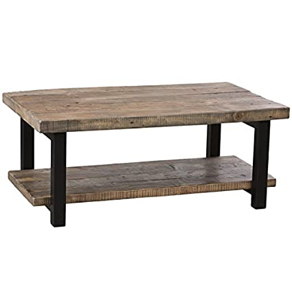 Amazon Com Alaterre Pomona Rustic Coffee Table Kitchen Dining