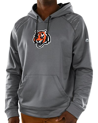 Majestic Cincinnati Bengals NFL Armor 3 Men's Pullover Hooded Sweatshirt - Gray