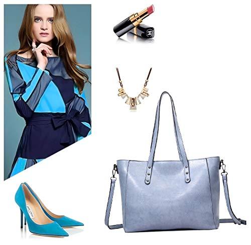 asa DEERWORD bandolera hombro y Carteras Bolsos Azul para bolsos de de Shoppers con mano mujer Bolsos R1S6R