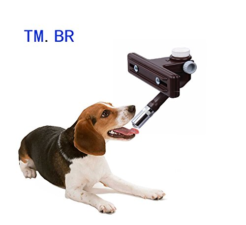 TM.BR Dog Puppy Cat Water Drinking Kit Non-drip Hanging Dispenser Fountain Bottle Head Nozzle Drink-water Feeder Accessory (Without (Brass Br Loop)