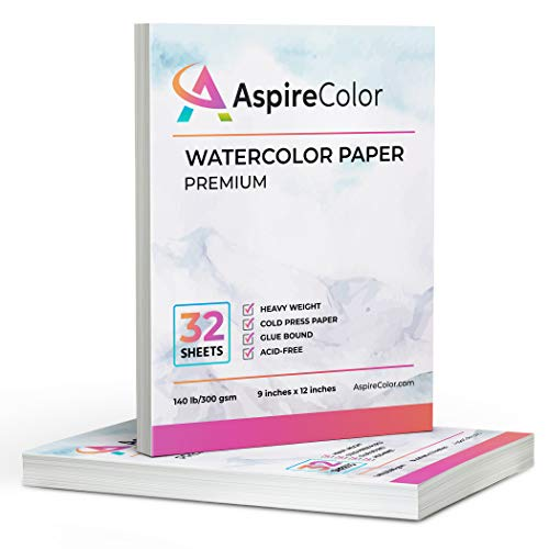 Papel para acuarela premium 9x12 x 2 blocks de 32 hojas