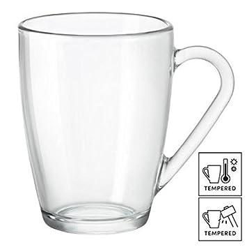 Tazas Grandes de Vidrio para Café Latte   Té 32cl (Juego de 6)  Amazon.es   Hogar 7af9fe0100ff