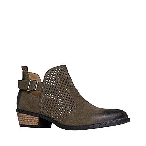 J. Adams Milton Perforated Booties - Western Distressed Laser Cut Ankle Boots