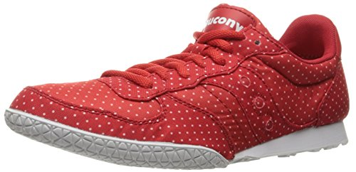 Saucony Originals Women's Bullet Dots Fashion Sneakers, Red, 7 M US (Dot Fashion Sneaker)