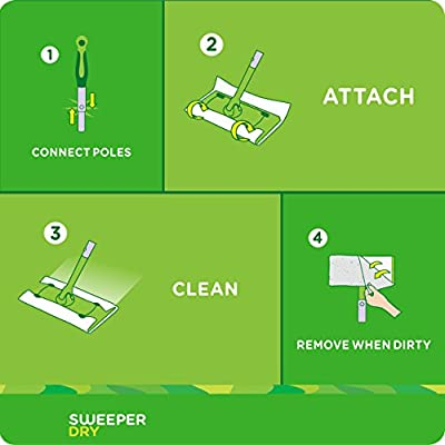 All Purpo... Swiffer Sweeper Dry Mop Pad Refills for Floor Mopping and Cleaning