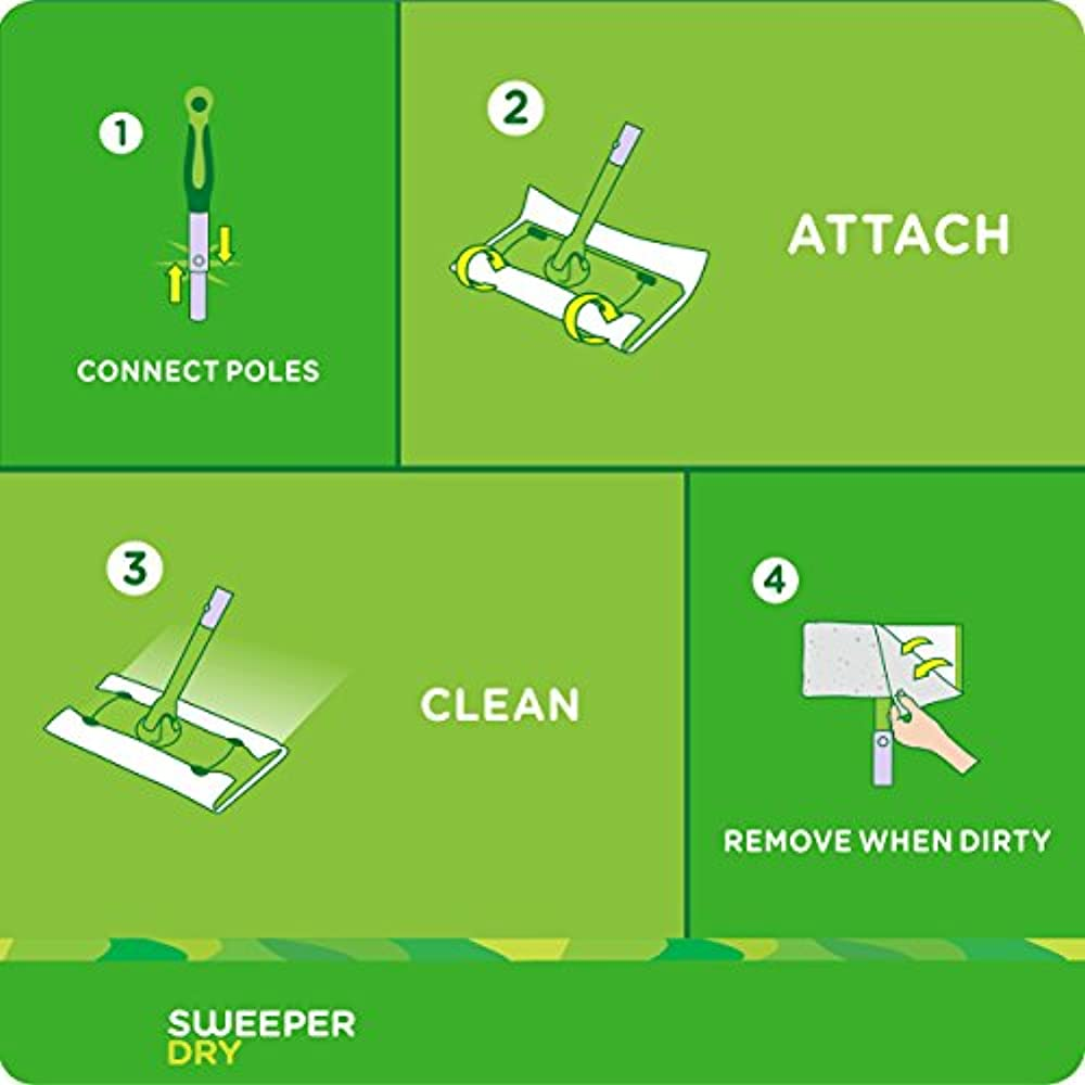 Swiffer Sweeper Dry Mop Pad Refills For Floor Mopping And