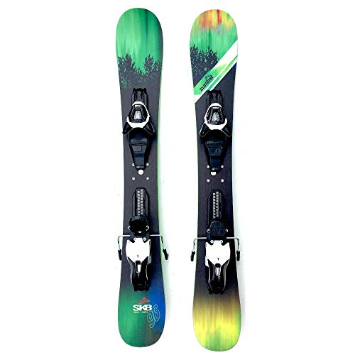 Summit Skiboards Sk8 96cm Rocker/Camber Skiboards Snowblades w. Atomic Ski Bindings 2019