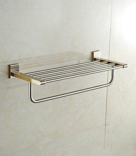 ZHAS Stainless Steel Gold Bathroom Towel Rack Luxury Bathroom Accessories Towel Rack (Color : Chrome) by ZHAS (Image #2)