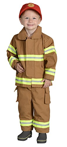 Aeromax Jr. NEW YORK Fire Fighter Suit, Tan, 18 Months.  The best #1 Award Winning firefighter suit.  The most realistic bunker gear for kids everywhere.  Just like (Firefighter Tan Suit)
