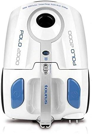 Taurus Polo 2000 - Aspirador con bolsa 2 L, 2000 W, filtro HEPA, diseño compacto, color blanco: Amazon.es: Hogar