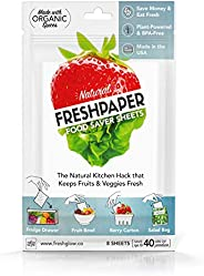 FRESHPAPER Food Saver Sheets for Produce | Keep Fruits & Vegetables Fresh | Perfect for Food Storage, Healthy Meal Prep | BP