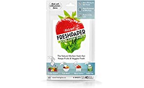 FRESHPAPER Food Saver Sheets for Produce | Keep Fruits & Vegetables Fresh | Perfect for Food Storage, Healthy Meal Prep | BPA Free | Made in USA