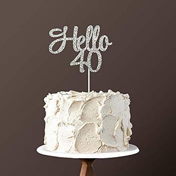 Amazon.com: Decoración para tarta de 40 cumpleaños con ...
