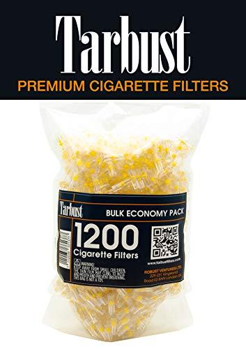 Tarbust Disposable Cigarette Filters Bulk Economy Pack, 1200 Per Pack