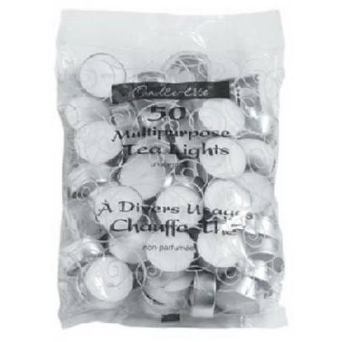 Candle-lite Unscented Tealight Bag, 50-Pack