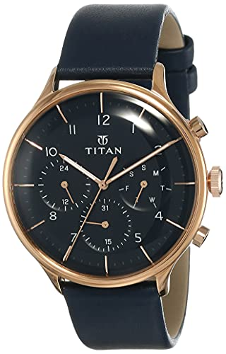 Titan Light Leathers Analog Blue Dial Men's Watch NM90102WL02/NN90102WL02