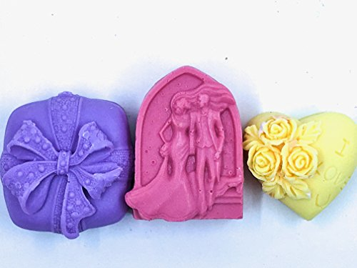 Detergent Free Scented Goat Milk Soap Bath Bars 3 Pack Love Spell, Endless Love, Unconditional ()