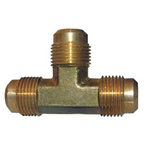 LASCO 17-4431 3/8-Inch Brass Flare Tee 3 Way Flare Tee