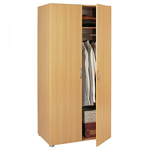 Kleiderschrank beige 2 Türen buche Schrank Drehtürenschrank Wäscheschrank Kinderzimmer Jugendzimmer Kinderzimmerschrank