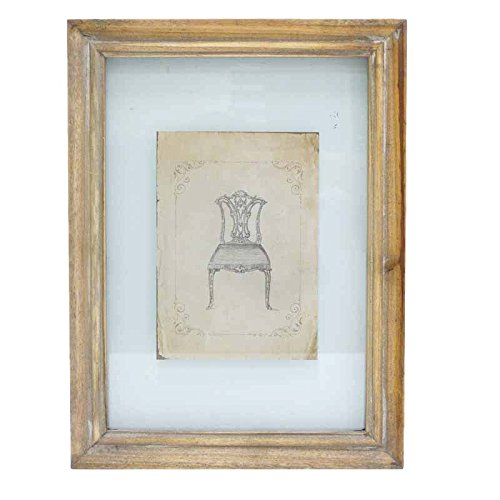 Better & Best 2351081 - Quadro Incisione di Sedia Inglese, con Cornice di Colore Talpa