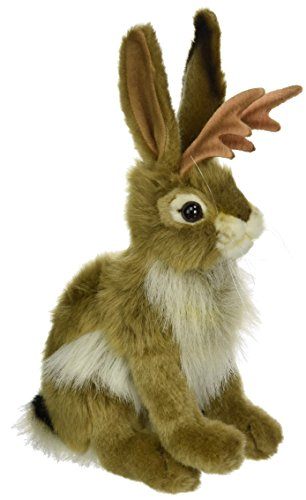 Hansa Jackalope Plush Animal Toy, 9""
