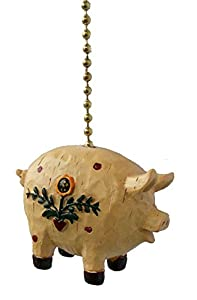 Amazon Com Primitive Country Pig Ceiling Fan Pull Light