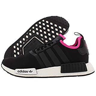 adidas Originals mens Nmd_r1 Running Shoe, Black/Black/Shock Pink, 9.5 US