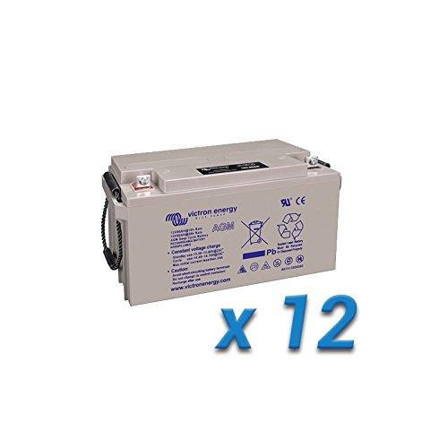 Victron Energy - Set 12x Batterie 130Ah 12V AGM Deep Cycle Victron Energy Photovoltaïque - BAT412121084x12