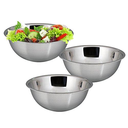 18 Cm Bowl (Kosma Set of 3 Stainless Steel Mixing Bowl   Salad Bowl   Serving Bowl - 18cm (1 Litre))
