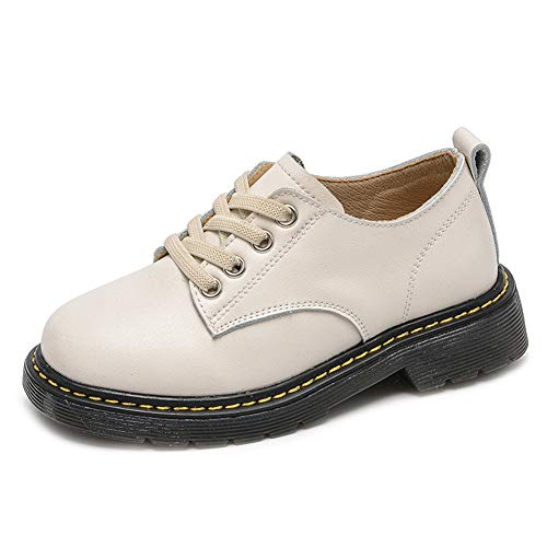 F-OXMY Boys Retro Lace up Oxfords Dress Shoes Anti-Skid Walking Casual Shoes Toddler/Little Kids/Big Kids White by F-OXMY