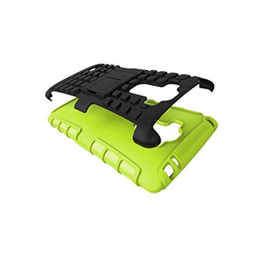 LG G Stylo Funda,COOLKE Duro resistente Choque Heavy Duty Case Hybrid Outdoor Cover case Bumper protección Funda Para LG G Stylo - naranja verde