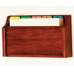 Wooden Mallet Square Bottom File Holder, Legal Size, Mahogany