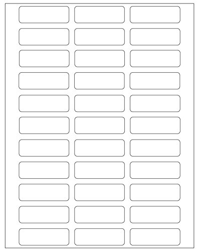 (ChromaLabel 3/4 x 2-1/4 Inch Printable Labels for Laser & Inkjet Printers   825/Pack (25 Sheets) )
