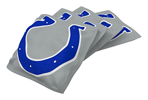 Wild Sports NFL Indianapolis Colts Gray Authentic Cornhole Bean Bag Set (4 Pack)