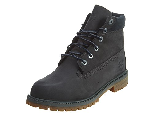 Timberland 6 Inch Classic Boot Youth Dark Grey Nubuck Ankle Boots forged iron