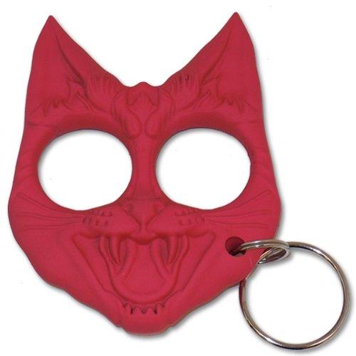 Cld168 Self Defense 0em9g935v Evil Cat Keychain Qe0432z0 Pink