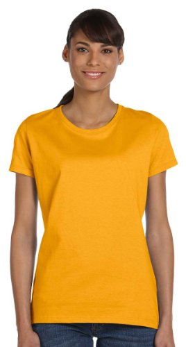 Fruit of the Loom Women's Athletic Crewneck T-Shirt, GOLD, XXX-Large