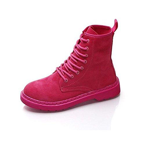da NERO Scarpe in Nubuck Stivali tacco abbigliamento Stivali blocco casual cadono Babbucce HSXZ donna pelle inverno combattere di Comfort Pink ROSA stivaletti 5Hq7w