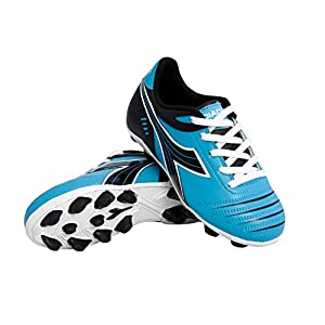 Diadora Kid's Cattura MD Jr Soccer Cleats (13.5 M US Little Kid, Columbia Blue/Black)