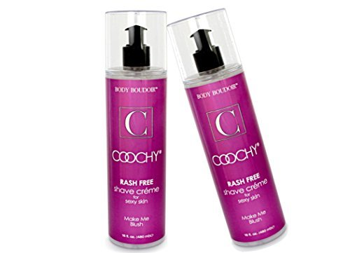 - Coochy Water Based Shave Cream Skin Protection Make Me Blush (Safe for All Body Parts Including Face and Intimate Areas) - Size 16 Oz (Pack of 2)