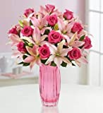 1800Flowers Magnificent Pink Rose and Lily Flower