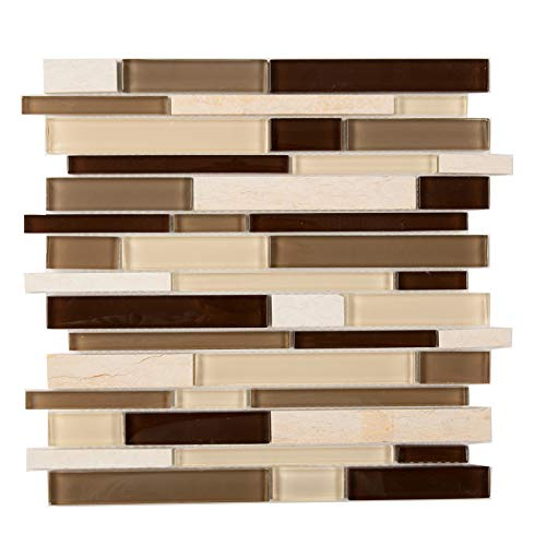 (Special Sale - Glass and Marble Mosaic Tile,