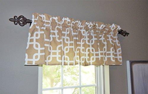 Tan Curtain Valance Windows Collection