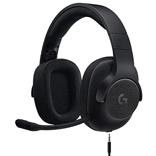 Logitech G433 7.1 Wired Gaming Headset with DTS Headphone: X 7.1 Surround for PC, PS4, PS4 PRO, Xbox One, Xbox One S, Nintendo Switch - Triple Black - (Renewed)