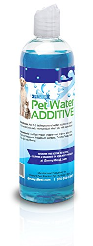 Premium-Pet-Water-Additive-for-Dogs-Cats-Fresh-Breath-Reduces-Plaque-Tartar-Simply-Add-to-Water