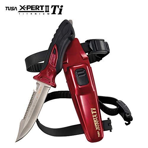 TUSA FK-940 X-Ppert II Titanium Dive Knife, Metallic Dark -